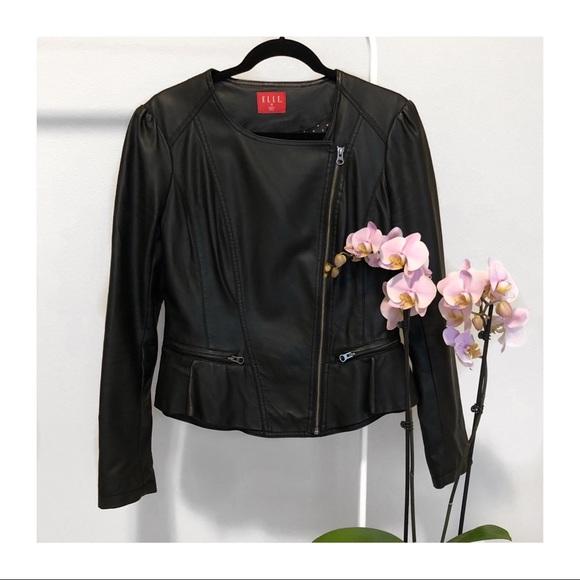 Elle Jackets & Blazers - EUC   Elle Pleather Black Jacket